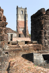 Ruins of St. Augustine convent complex at Old Goa