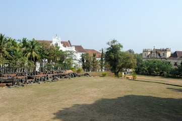 Garden of St. Augustine convent complex at Old Goa