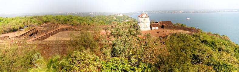 Lighthouse in Aguada fort, located near Sinquerim beach, Goa