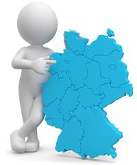3d Männchen mit Deutschlandkarte