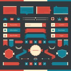 Various web design elements