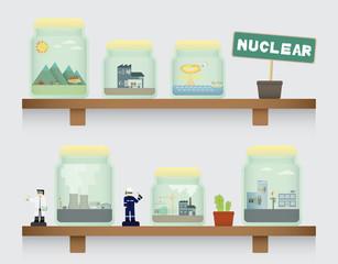 nuclear in jar