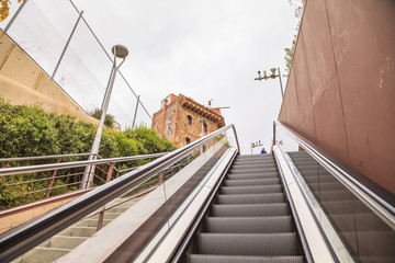 escalator in the street