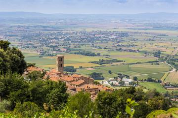 medieval town Cortona in Tuscany, Italy