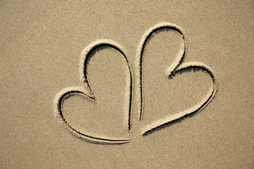 images of hearts in the sand
