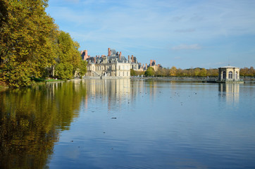 Autumn view of Fontainebleau