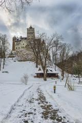 Bran Castle during winter season