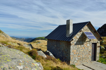 Modern hut in the Haute Pyrenees