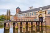 Bridge and gate to the castle of city Breda - 78012754
