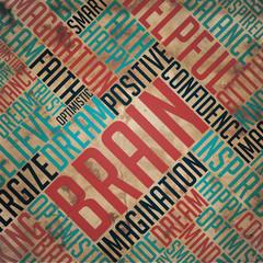 Brain - Grunge Word Collage.