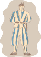 Swiss Guard Standing Sketch