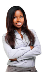 Beautiful black businesswoman portrait
