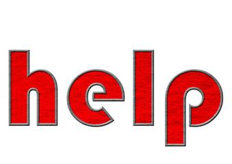 kırmızı renkli yardım yazısı