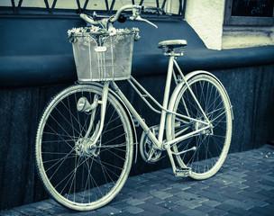 Vintage stylized photo of old bicycle.