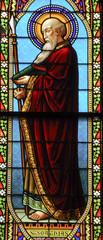 Saint Mathew Apostle, stain glass window