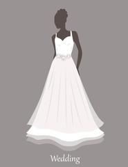 Bride sihlouette. Vector