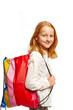 Leinwanddruck Bild - Maedchen mit Einkaufstasche