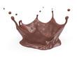 Chocolate Crown Splash isolated on white background - 78015533