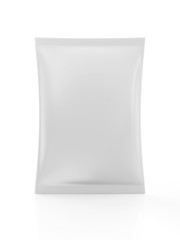 White Blank Package for Food isolated on white background