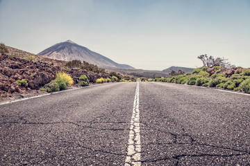 road to the volcano Teide
