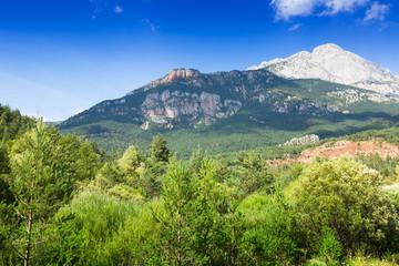 white rocky mountain in Pyrenees. Catalonia