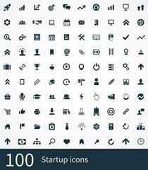 100 startup icons set