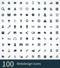 100 webdesign icons set