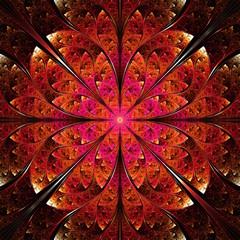 red fractal ornamental background