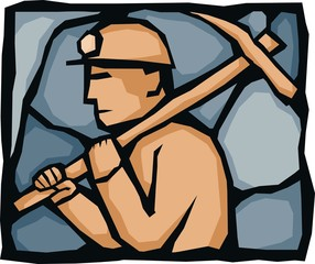 Miner with pickaxe 2