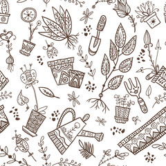 Planting seamless pattern