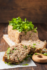 meat loaf with beef and buckwheat