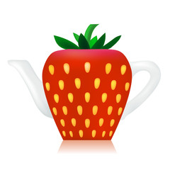 Vector Strawberry ceramic Teapot