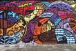 Leinwandbild Motiv Street art - Graffiti wall