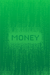 Money Matrix style Background Vector illustration