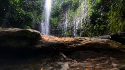 Tropical Waterfall Dolly Shot