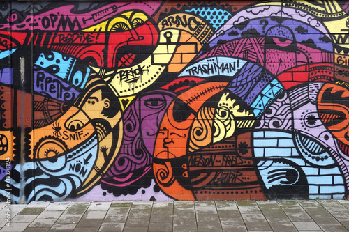 canvas print picture Street art - Graffiti wall