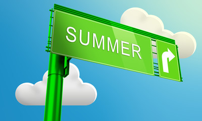 Segnale stradale con scritta Summer