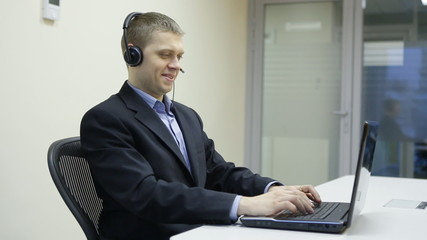 Operator in the call center