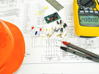 elcetronic component on circuit diagram