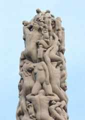 Statues in Vigeland park. Oslo, Norway