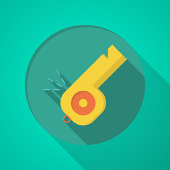 Whistle flat color vector icon