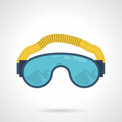 Climbing goggles color vector icon