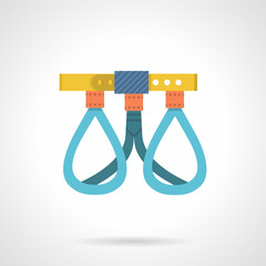 Climbing harness colored vector icon