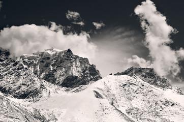 Mountain scenery on the Mount Everest Base Camp, Himalaya, Nepal