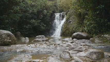 forest waterfall laie hawaii oahu