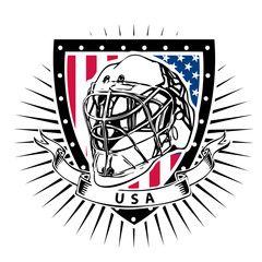 usa ice hockey helmet shield