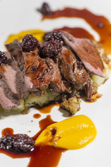 Fine Dining - Roasted Saddle Of Wild Boar And Blackberry Jus