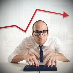 Businessman increase financial productivity