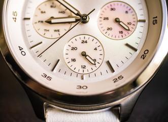 Macro shot of wrist watch