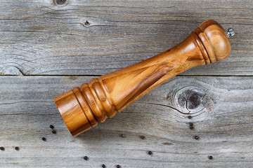Traditional wooden pepper mill